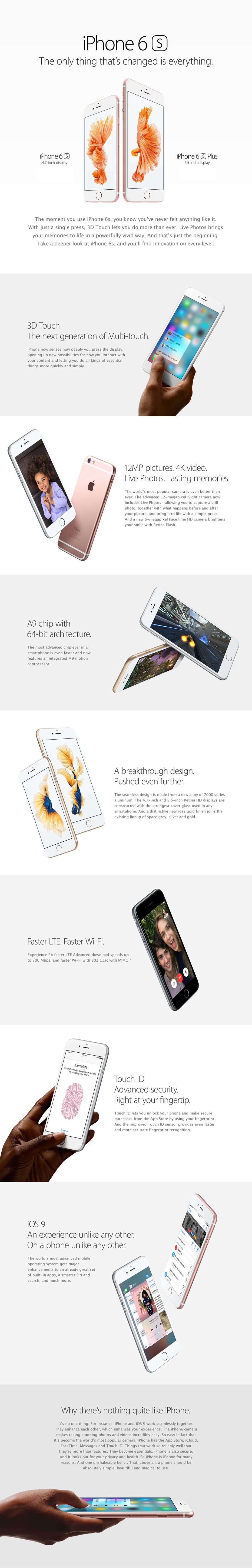 iPhone 6s and iPhone 6s Plus Features