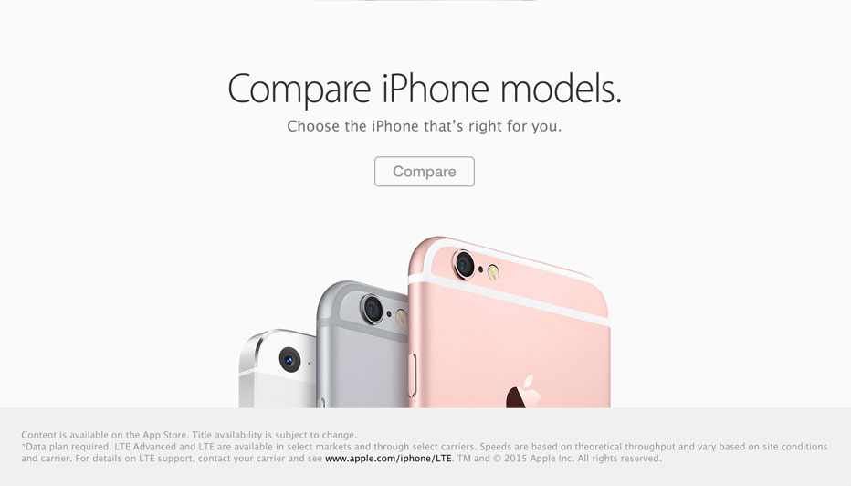 Compare iPhone models