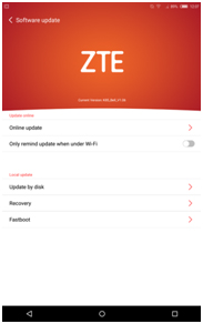ZTE Grand X View Tablet Software Update Step 4