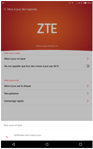 ZTE Grand X View Tablet Software Update Step 5